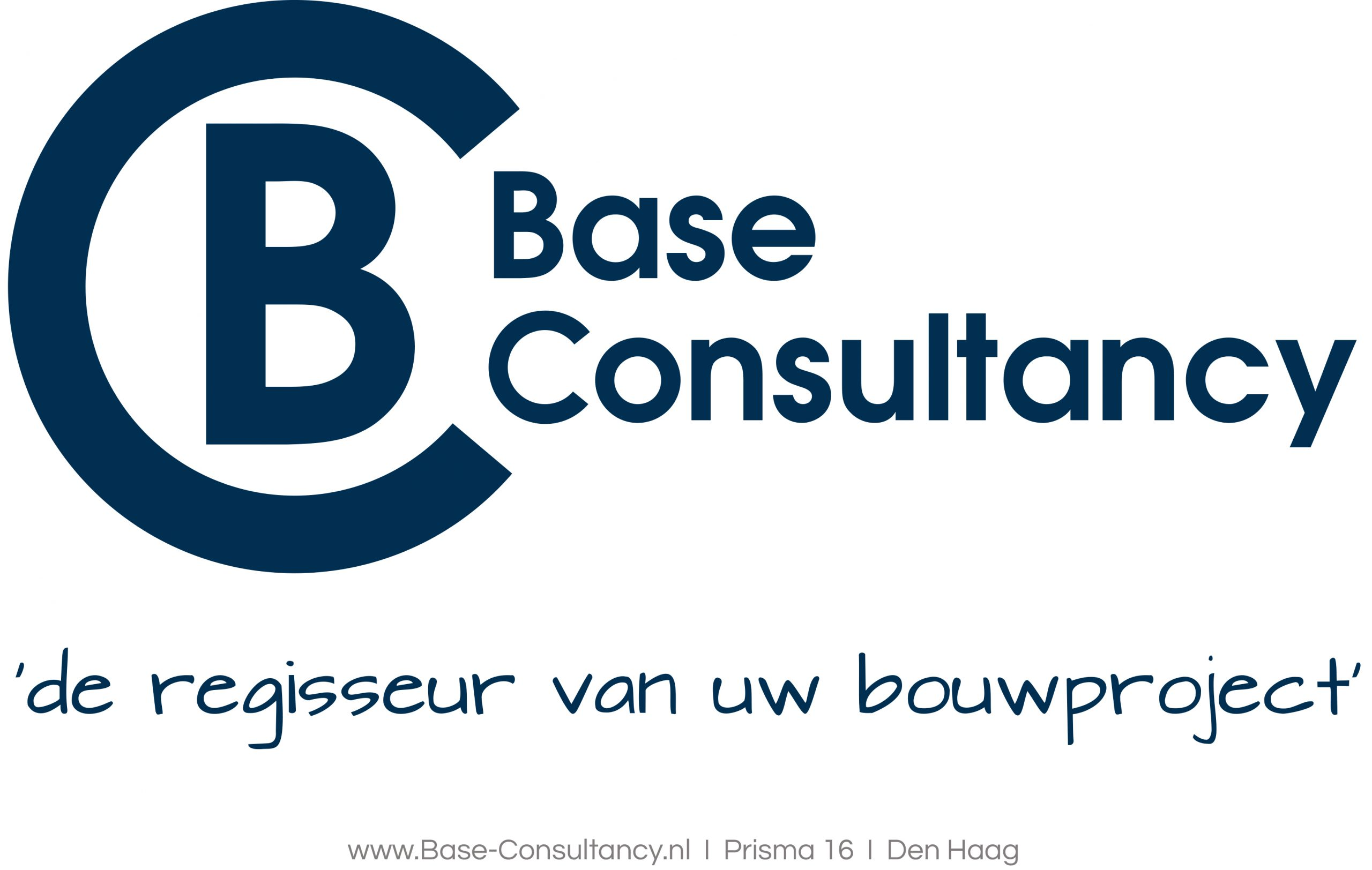 Logo Base Blauw op transparant met regisseur en URL